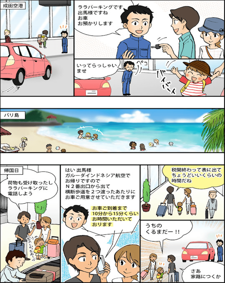 マンガで分かる駐車場案内2ページ